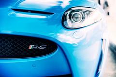 Jaguar XKR-S (burbbble) Tags: blue detail sports car french bokeh british jaguar supercharged xkr xk xkrs