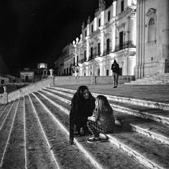 Ascolta piccola (stefanobiserni) Tags: street 6 mamiya film italian noto delta d76 3200 ilford sicilia siracusa 1250 filmphotography