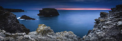 Apothicairerie (Ornaim) Tags: ocean travel blue sunset sea vacation seascape france nature rock angel night landscape island coast nikon brittany long exposure ile bretagne panoramic atlantic filter lee hour belle cave tamron headland lightroom foreland d610 benro
