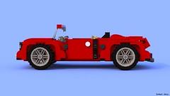 V01 - LDD (BlueRender) (iSchumi) Tags: blue car digital lego designer render wip ldd legography