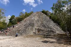 Coba, Mexico - Coba Pyramid (GlobeTrotter 2000) Tags: travel tourism mexico temple ruins pyramid maya coba yucatan tulum visit quintanaroo