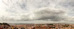 'Come Rain or Shine' (Canadapt) Tags: bridge panorama castle portugal clouds lisbon postcard tejo canadapt