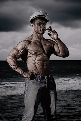 Popeye cosplay photoshoot session with Malaysian athletes-Adam...