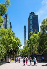 Ave Jovenes Heroicos 101 (L Urquiza) Tags: city parque luz de mexico edificios torre mayor ciudad reforma chapultepec estela bancomer mtikah