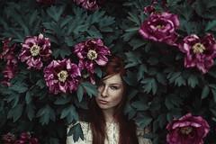michelle ramone. (sandra.scherer) Tags: portrait 50mm spring photoshoot frankfurt redhead freckles naturelover analoraphotoart