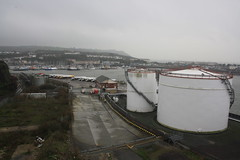 Oil Terminal (lazy south's travels) Tags: uk england urban coast industrial tank estate britain plymouth terminal coastal devon oil depot cattedown coxside