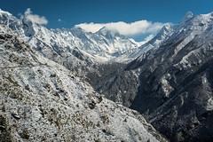 glacier-snow-mountains-sunny (pixellaphoto) Tags: mountain snow clouds forest trekking stupa peak bluesky ridge trail monastery valley summit lhotse amadablam mounteverest tengboche
