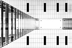 White up (Maerten Prins) Tags: blackandwhite white abstract geometric glass monochrome architecture contrast germany mirror geometry cologne kln symmetry hafen duitsland keulen upshot
