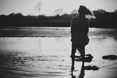I stood for the last time... (privizzinis passion photography) Tags: ocean lighting light shadow sea people blackandwhite sunlight water girl monochrome childhood hair children outside outdoors shadows child wind outdoor adventure explore