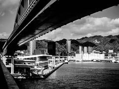 Shashin - DSCN2698 (Mathieu Perron) Tags: life city bridge people bw white black monochrome japan nikon noir perron daily nb journey  mp blanc japon personne ville gens vie mathieu   sjour   quotidienne      p520  zheld