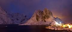 Norway. (richard.mcmanus.) Tags: winter panorama snow norway night landscape norge arctic explore reine mcmanus lofotenislands hamnoy