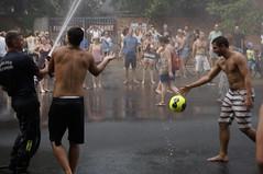 IT'S RAINING MEN (surtr) Tags: summer berlin tourism water germany deutschland football soccer culture tourist splash heatwave fusball streetsoccer hitzewelle ballsports aufdeutsch editorialuse