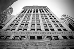 Wrigley Building - Chicago IL (Meridith112) Tags: summer blackandwhite bw building june architecture mono nikon landmark wrigleybuilding cookcounty flickrmeetup skyscrapper 2015 wscf flickrgroupmeetup nikon2485 westsuburbanchicagoflickrers nikond610 westernsuburbanchicagoflickr photowalk6282015