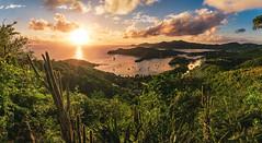 Antigua - English Harbour Sunset (claudecastor) Tags: travel sunset sea panorama beach nature clouds strand landscape island boot sonnenuntergang yacht urlaub natur wolken insel antigua caribbean hafen landschaft sonne nelsonbay segeln segelboot reise westindies karibik englishharbour nelsondock shelleyspoint