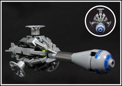 Celeste's Folly (Karf Oohlu) Tags: lego spaceship moc microscale microspacetopia