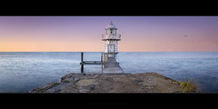 Isolated at the End (Rodney Campbell) Tags: water sunrise au australia pastels newsouthwales cpl mosman bradleyshead gnd09