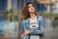 Najwa (aminefassi) Tags: street portrait people beauty fashion rock outdoor retrato morocco maroc scala casablanca mode 135mm  135mmf2l  aminefassi najwasabbar