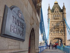 Tower Bridge (Belinda Fewings (3 million views. Thank You)) Tags: road street city uk bridge blue windows winter red england colour building brick green london tower beautiful beauty sign wall thames architecture plaque towerbridge out walking outside outdoors grey seaside december arty artistic bokeh creative lookingup lookup sidewalk doorway bermondsey colourful lovely iconic peoplewatching cityoflondon the redbus capitalcity beautify crossingthebridge internationalcity bridgesoftheworld buildingandarchitecture panasoniclumixdmc pbwa creativeartphotograhy belindafewings