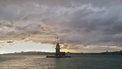 Maiden's Tower and Bosphorus 2 (ekremhatipoglu) Tags: sea sky cloud turkey landscape outdoor istanbul bosphorus maidenstower