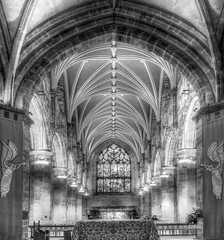St Giles Cathedral, Edinburgh. (charlieinlesmahagow) Tags: christmas old blackandwhite bw history church stone architecture scotland interesting ancient edinburgh different cathedral unique stonework gothic arches tourist photographic holy masons stunning stgilescathedral royalmile historical educational unusual visual nationaltrust citycentre hdr attraction stgiles informative photogenic historicalbuilding gothiccathedral listedbuilding ancientart saintgiles reformation johnknox vaultedroof gothicwindows stonemasons placesofinterest placeofinterest prodestant presbeterian stunningarchitecture charlieinlesmahagow saintgiless stunningstonework