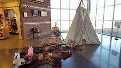 Inside the Washita NHS Visitor Center