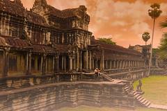 Cambodge (thorgan experiment) Tags: morning orange architecture sunrise temple nikon asia cambodge asie angkor couleur d3 thorgan