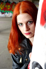 Rocker Chick (mistyrock) Tags: hot sexy girl leather rock metal badass babe chick rocker biker leatherjacket
