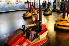 Fun at Galaxyland! (Vegan Butterfly) Tags: park people playing cute cars kids children fun drive amusement driving play adorable bumper galaxyland