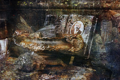 RIP (roberke) Tags: old grave photoshop surreal textures creation photomontage layers lagen grafornament