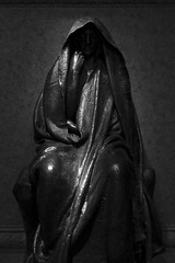 The Adams Memorial by Augustus Saint-Gaudens (LaunchOurRocket) Tags: shadow blackandwhite sculpture art monochrome statue death smithsonian memorial adams nirvana tomb buddhism hood cloak augustus saintgaudens augustussaintgaudens americanart adamsmemorial