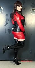 posing in latex (Annastasya) Tags: rubber crossdressing tgirl transvestite latex transgendered crossdress reddress nastjona
