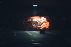 Self (mynamesdonny) Tags: portrait selfportrait night austin carmirror atx selfie lookslikefilm carmirrorselfie vsco vscofilm fujix100s makeportraits postthepeople