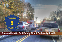 BREMEN MAN CHECKING MAILBOX PERISHES WHEN STRUCK BY MINIVAN (cullmantoday) Tags: county by alabama vehicle bremen minivan struck cullman fatality ervil ballanger