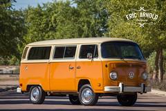 1978 VW Transporter (Eric Arnold Photography) Tags: trees shadow 2 arizona orange sun bus vw emblem volkswagen logo beige symbol outdoor tan az front grill chrome ii type 1978 van chandler 78 kombi transporter bumber 2015 shaodws