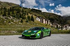 Green Chrome (Nico K. Photography) Tags: green switzerland chrome lamborghini gallardo supercars julierpass bivio lp5604 nicokphotography