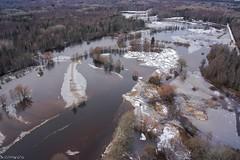 Flood on river Raudna (BlizzardFoto) Tags: ice water flood aerialphotography vesi j icejam soomaa aerofoto leujutus karuskose soomaanationalpark soomaarahvuspark viiesaastaaeg raudnajgi jminek riverraudna