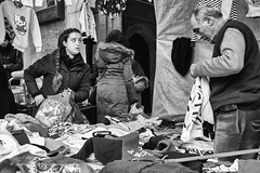 Street 75 (`ARroWCoLT) Tags: street people bw white man photography blackwhite open dress market samsung mini istanbul wear clothes bazaar cloth f18 seller sokak cuma nx pazar skdar 17mm pazar satcs nxm