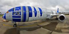 All Nippon Airways (ANA) - JA873A panoramic - London Gatwick (EGKK/LGW) (Andrew_Simpson) Tags: uk japan plane airplane japanese sussex ana starwars westsussex unitedkingdom aircraft aeroplane special apron r2d2 gb boeing gatwick lgw 787 gatwickairport greatbritian allnippon allnipponairways planephoto londongatwick logojet airside dreamliner avgeek speciallivery egkk londongatwickairport planepic 7879 787dreamliner boeingdreamliner planegeek avporn ja873a aviationgeek 7879dreamliner theforceawakens r2d2jet starwarsplane r2d2plane
