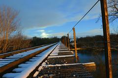 DSC_8636 (FirehawkNS) Tags: bridge snow river nc traintracks tracks northcarolina fullmoon moonrise snowday trainbridge moonshine movingclouds mountholly moonandclouds catawbariver gastoncounty winterinnc