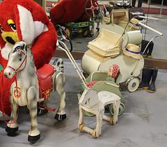 Old toys (Ankar60) Tags: horse baby car vintage toy wooden carriage sweden antique swedish bil sverige pram nostalgi svensk gamla antik gammal barnvagn gammalt leksaker svenskt trhst