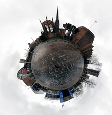 Central Coventry Little Planet (Mike_J_G) Tags: coventry coventryuniversity coventrymuseum coventrycathedrals