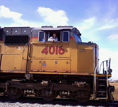 Engineer Eric in UP EMD SD70M No. 4016 (andrew_busse) Tags: railroad fall up nikon eric busse pacific no union railway andrew iowa number dslr northern engineer 2014 emd sd70m 4016 d3200 ianrr