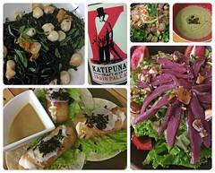Farewell Dinner (Danburg Murmur) Tags: soup salad mosaic philippines scallops pasta mushroomsoup manila mahimahi quezoncity pomelo fishtacos smokedduck squidinkpasta pomelosalad republikangpilipinas earthkitchen maynil indiopaleale katipunancraftales