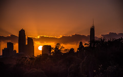 """""""Be happy for this moment.  This moment is your life..."""" (jenni 101) Tags: beautiful sunrise australia queensland colourful goldenhour goldcoast nikond7200"""