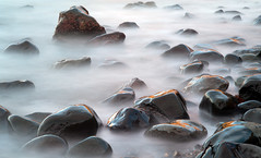 DSC_0866 (stuart.hall57) Tags: sunset seascape west beach wales landscape coast march rocks path pebbles coastal filter coastline pembrokeshire rugged density fishguard neutral neutraldensity pwlllanddu