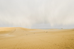 miniature people (another side view) Tags: sea nature beautiful rain japan clouds landscape japanese landscapes rainbow sand nikon view natural dune sanddune f28 25mm distagon carlzeiss beautifulnature naturepeople beautifuljapan nikondf