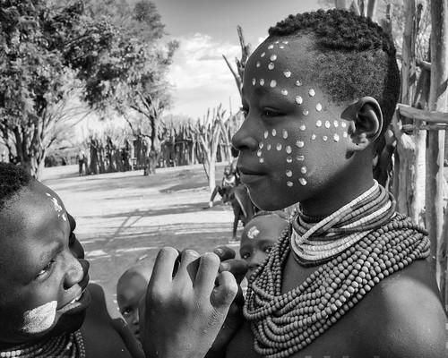 Karo Girls, Dus, Ethiopia