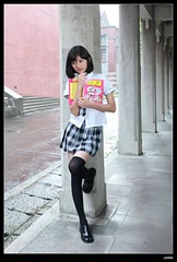 nEO_IMG__MG_8909 (c0466art) Tags: school light portrait girl rain canon naughty campus high nice uniform slim natural outdoor quality gorgeous figure tall lovely charming pure 1dx hoigh c0466art