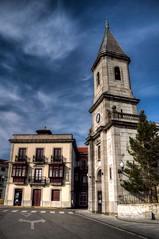 Distintos e Iguales (Different and Equal) (Dibus y Deabus) Tags: sky españa building architecture clouds canon spain arquitectura edificio asturias cielo nubes 7d hdr murosdenalon
