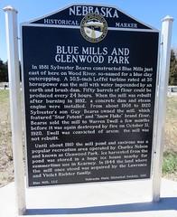 Blue Mills and Glenwood Park Marker (Buffalo County, Nebraska) (courthouselover) Tags: nebraska ne buffalocounty nebraskahistoricalmarkers